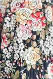 RARE Antique Couched Silk Kimono with Ornate Embroidery - One Size