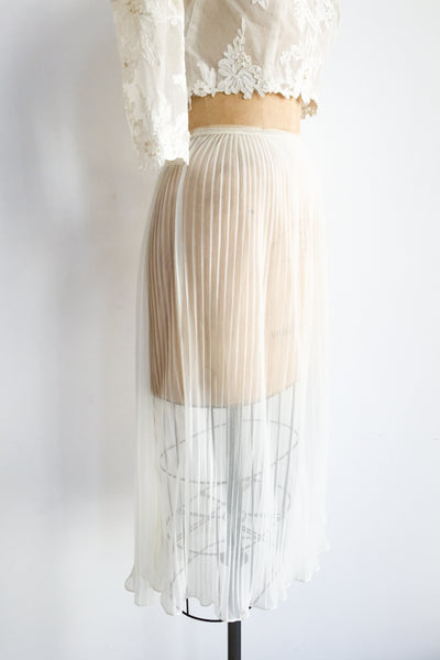 1960s Elastic Nylon Sheer Skirt - S/M