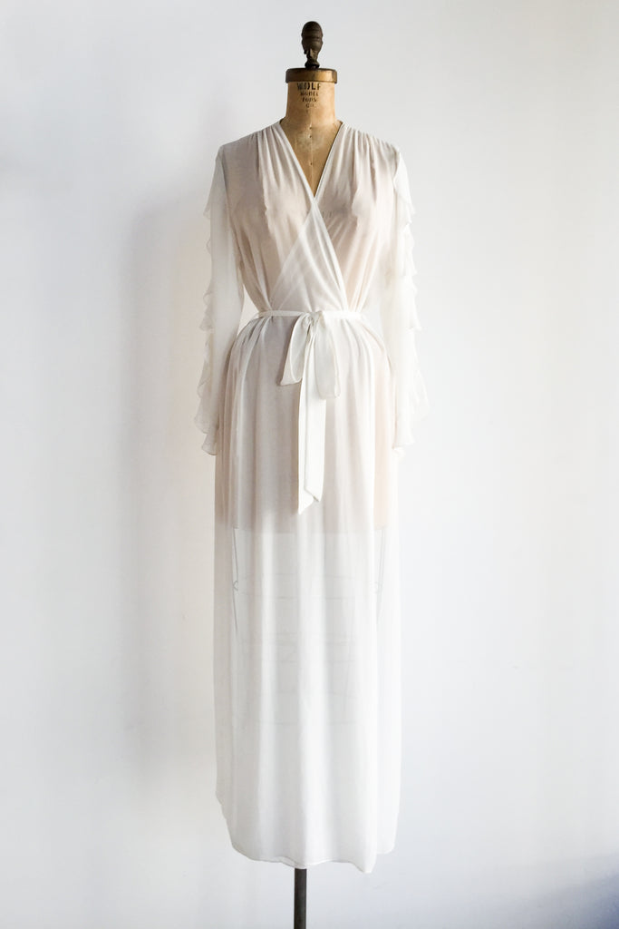 Vintage Chiffon Dressing Gown - One Size | G O S S A M E R