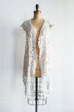 Antique Battenburg Jacket/Wrap Dress - M