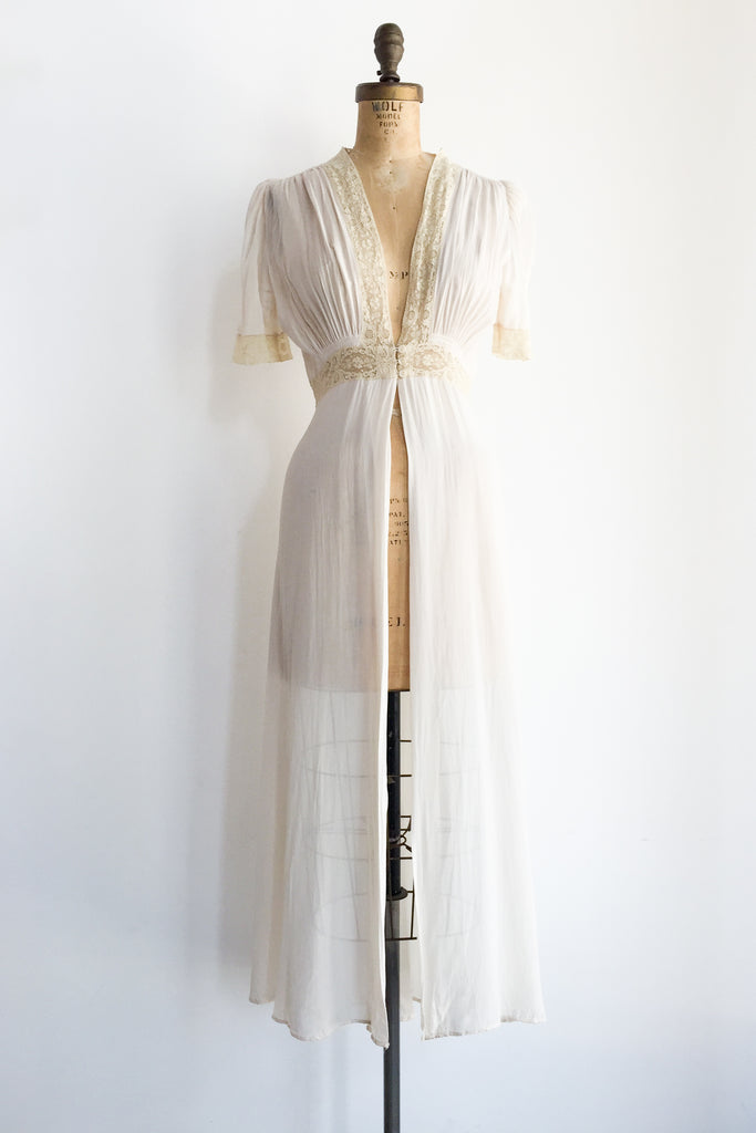 1930s Chiffon Dressing Gown - S | G O S S A M E R