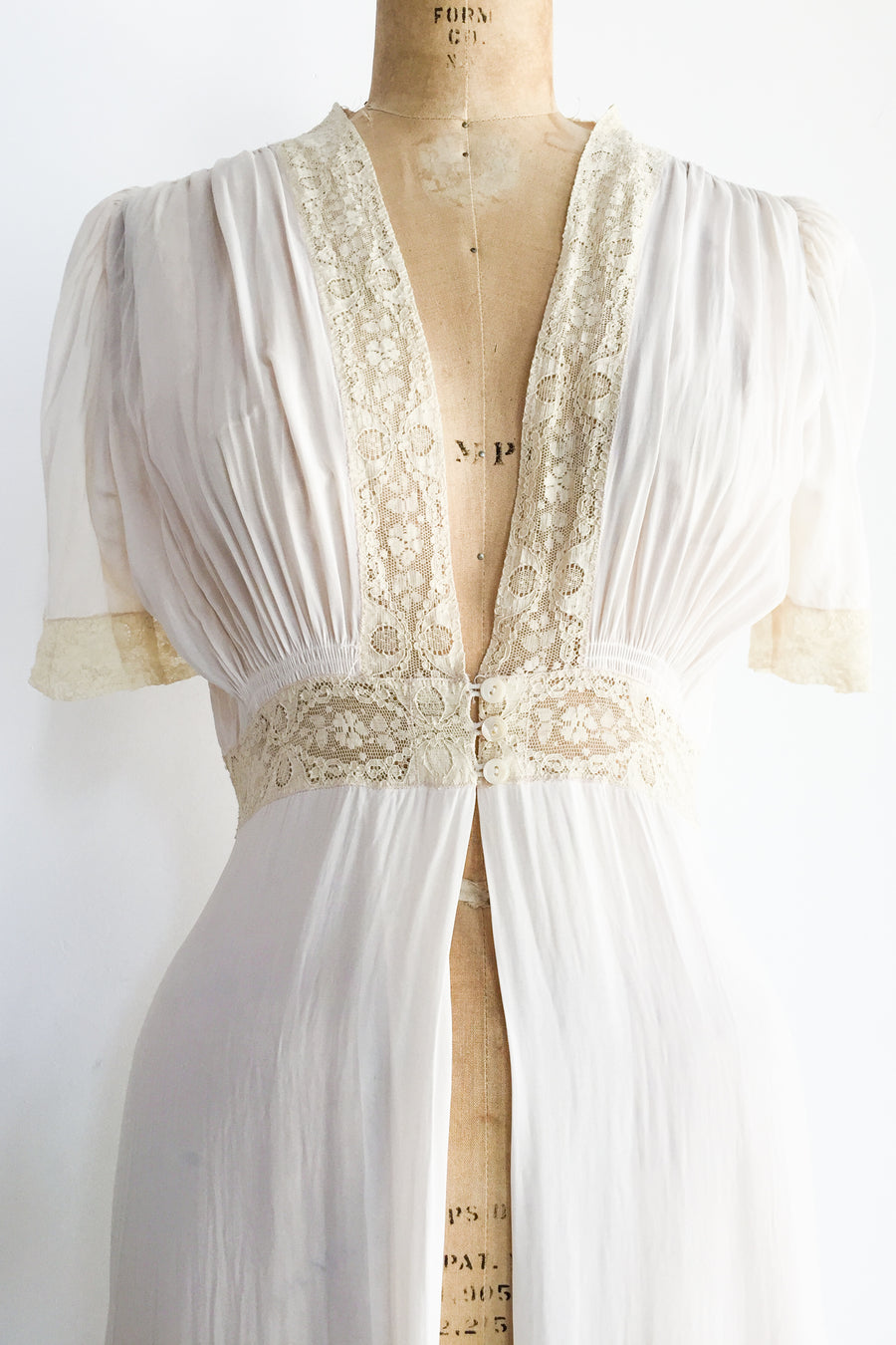 1930s Chiffon Dressing Gown - S