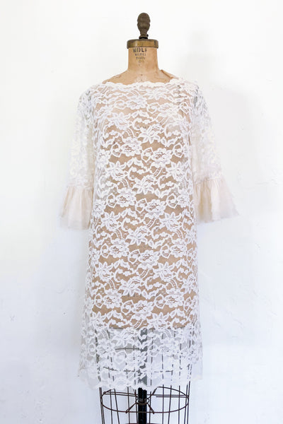 1960s Sheer Lace Dress - S/M