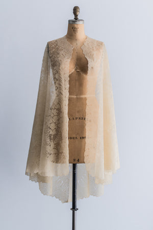 Antique Silk Chantilly Lace Cape