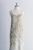1980s Silk Caviar Pearl Bugle Beaded Dress - S/M