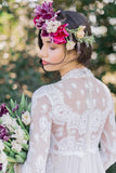 [SOLD] Mod Lace Wedding Gown