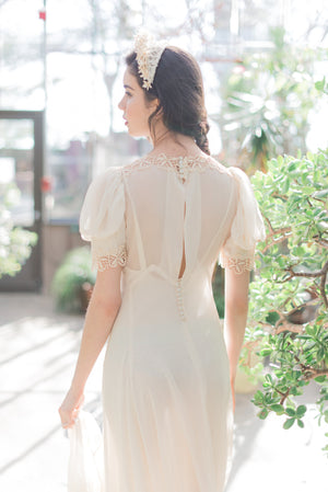 [SOLD] Silk Chiffon Trained Gown
