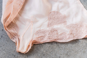 1920s Peach Silk Tap Pants - M