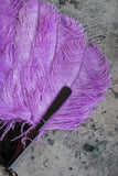 Antique Purple Feather Fan