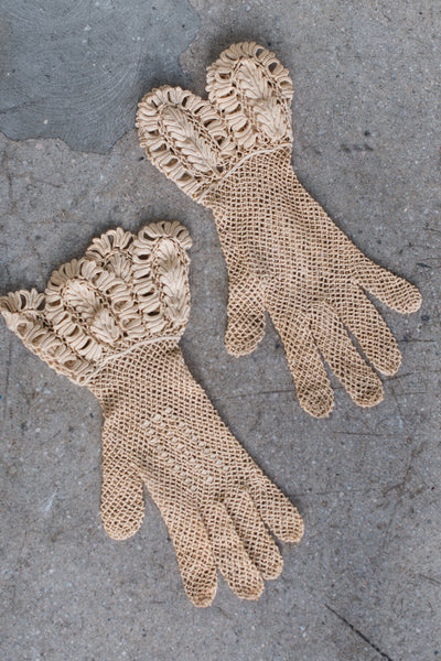 Antique Lace Gloves - One Size