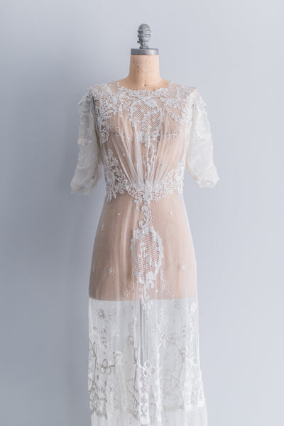 Edwardian Belle Epoque Lace Gown