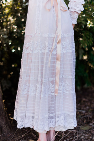 [SOLD] Edwardian Cotton Lace Tea Dress