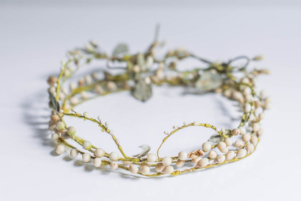 [SOLD] Antique Wax & Clay Flower Tiara