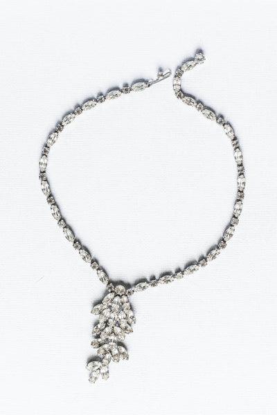 1950's Graduated Petal Crystal Necklace