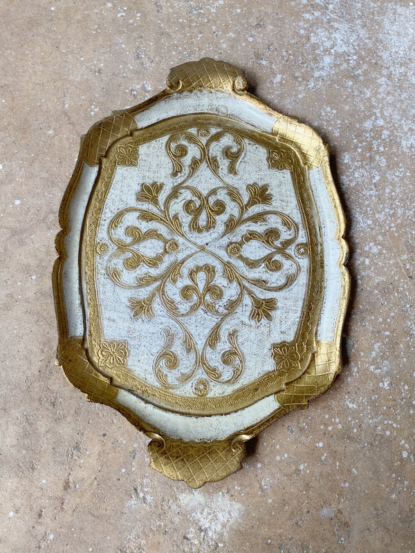 Vintage Small Gold Tray