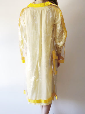 Vintage Yellow Raincoat - OSFM