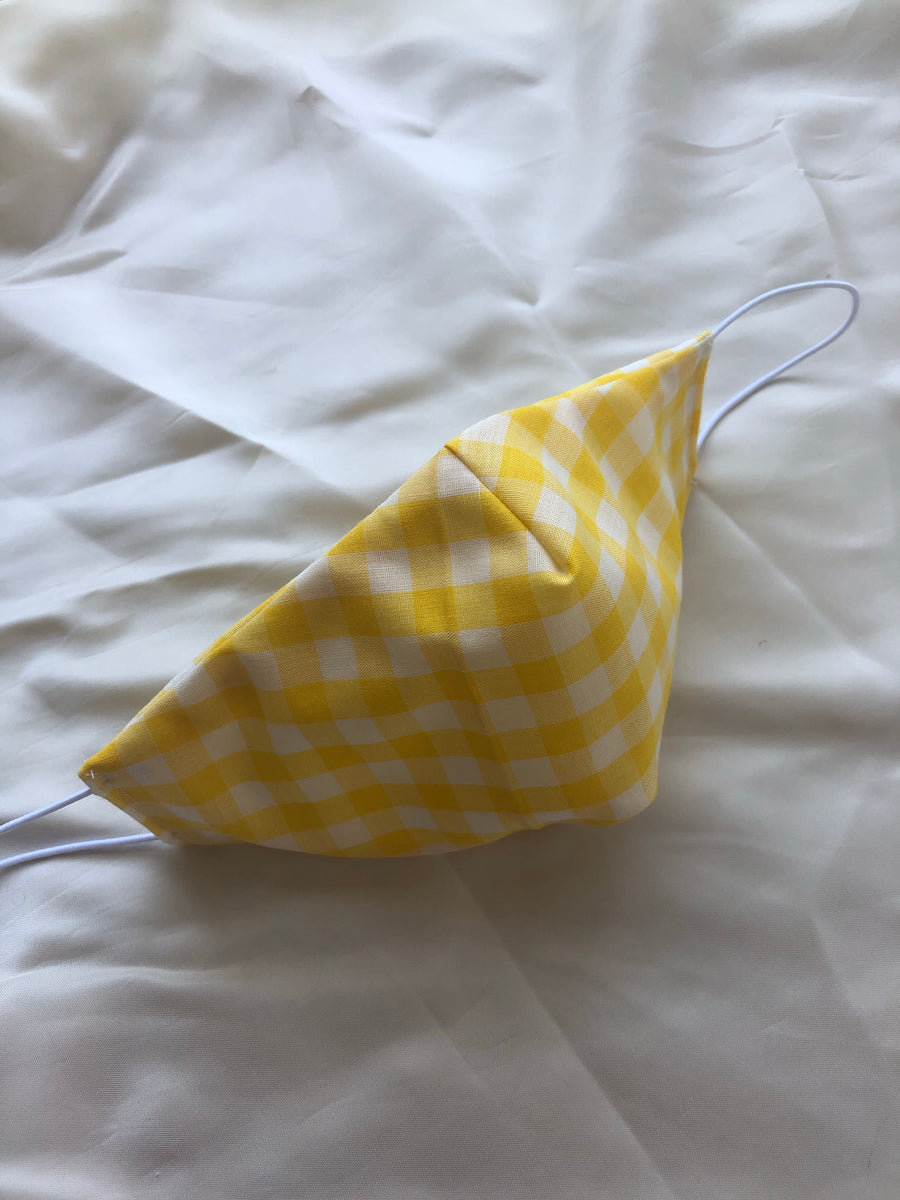 Face Mask - Yellow Gingham