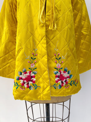 1940s/1950s Quilt Pattern Embroidered Jacket - M