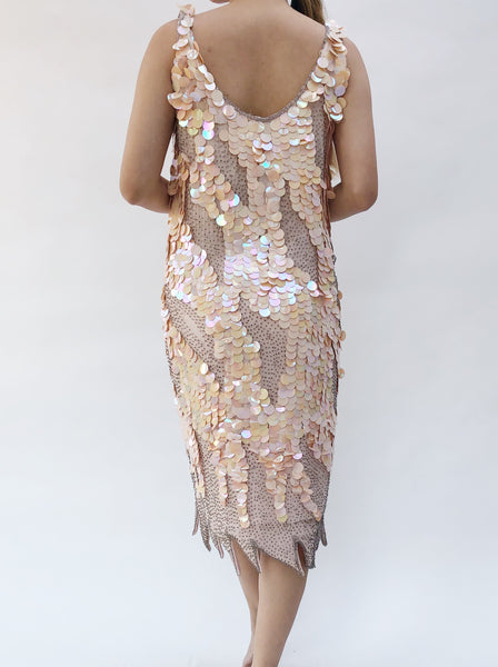 1980s Sequin Embellished Dress - S/M