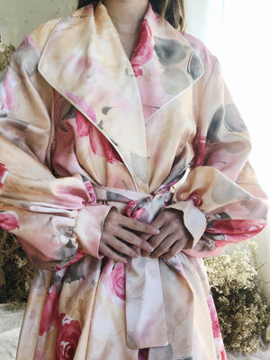 Vintage Rose Print Duster - One Size