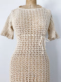 1960s Crochet Lace Dress - XS