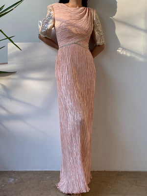 1980s Mary McFadden Light Pink Dress - S/8 M