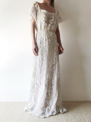 RARE 1930s French Knot Gown - S/M