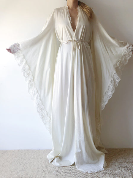 1960s Bob Mackie Nylon Dressing Gown - One Size