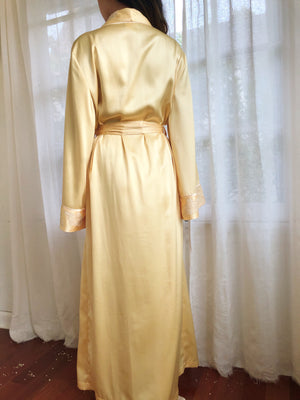 Vintage Yellow Long Sleeves Robe - OSFM