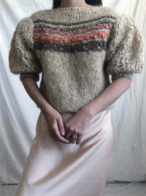 Vintage Puff Sleeve Sweater - S/M