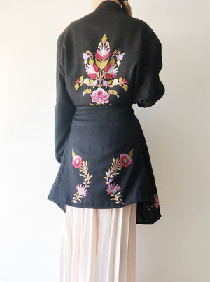 1960s Embroidered Cashmere Jacket - M
