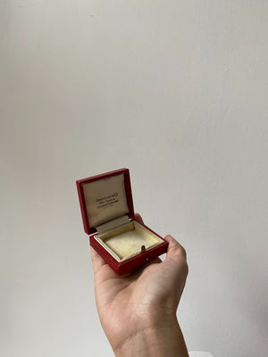 Small Red Leather Display Box