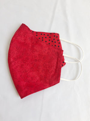 2-in-1 Reversible Vibrant Red Face Mask