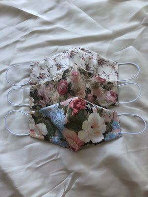 Face Mask - Reversible Pink Florals