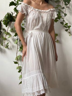 Antique Cotton Camisole Dress - S