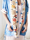1940s Vintage Silk Embroidered Jacket - S/M