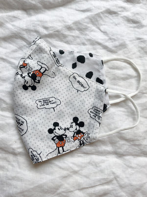 2-in-1 Reversible Vintage Disney/Spots Face Mask with Filter Slot