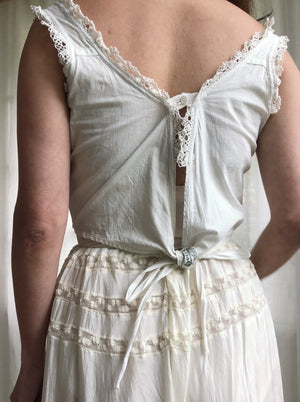 Antique Boned Corset Top  - S