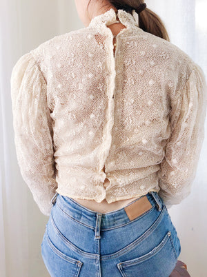 Antique Irish Lace Top - XS/S
