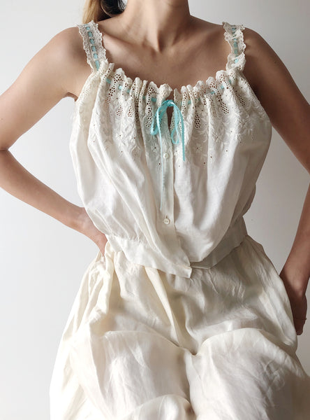 Antique Embroidered Cami Top  - S