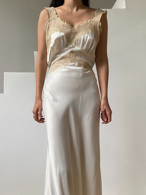 1930s Satin and Lace Slip - S/M