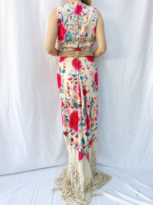 Ornate Antique Embroidered Dress - S