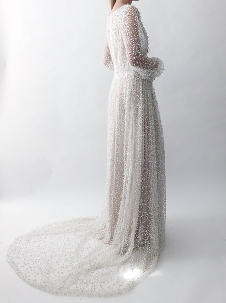 RESERVED DO NOT BUY/GOSSAMER Ivory Pearl Dress - 4/6