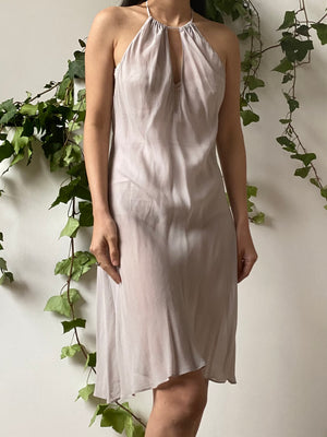 Vintage Lavender Silk Slip Dress - M