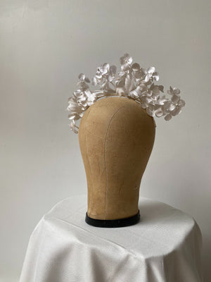 1940s Vintage Silk Flower Tiara - One Size