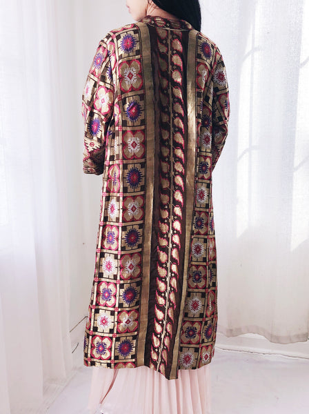 1940s Geometric Lame' Jacket - S/M