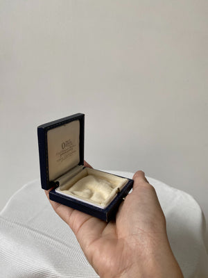 Small Navy Blue Leather Display Box