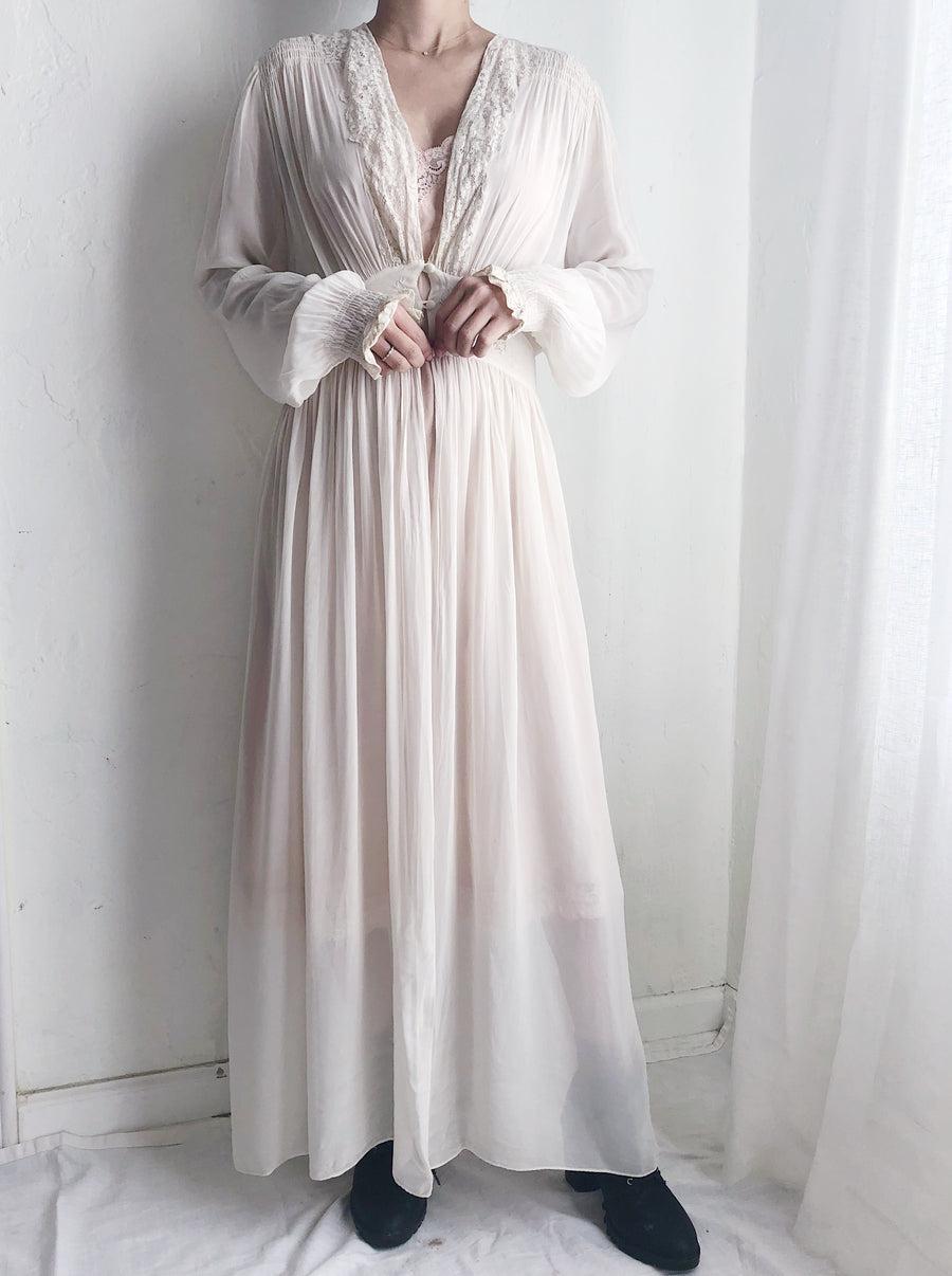 1930s Chiffon Dressing Gown - S/M