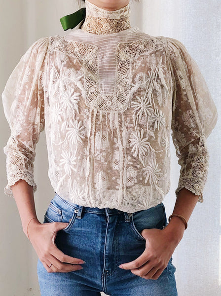 Antique Lace Mixed Lace Bodice - XS/S