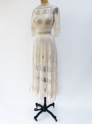 Edwardian Batiste Pintucked Dress - XS